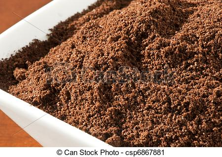 Stock Photography of coffee powder.