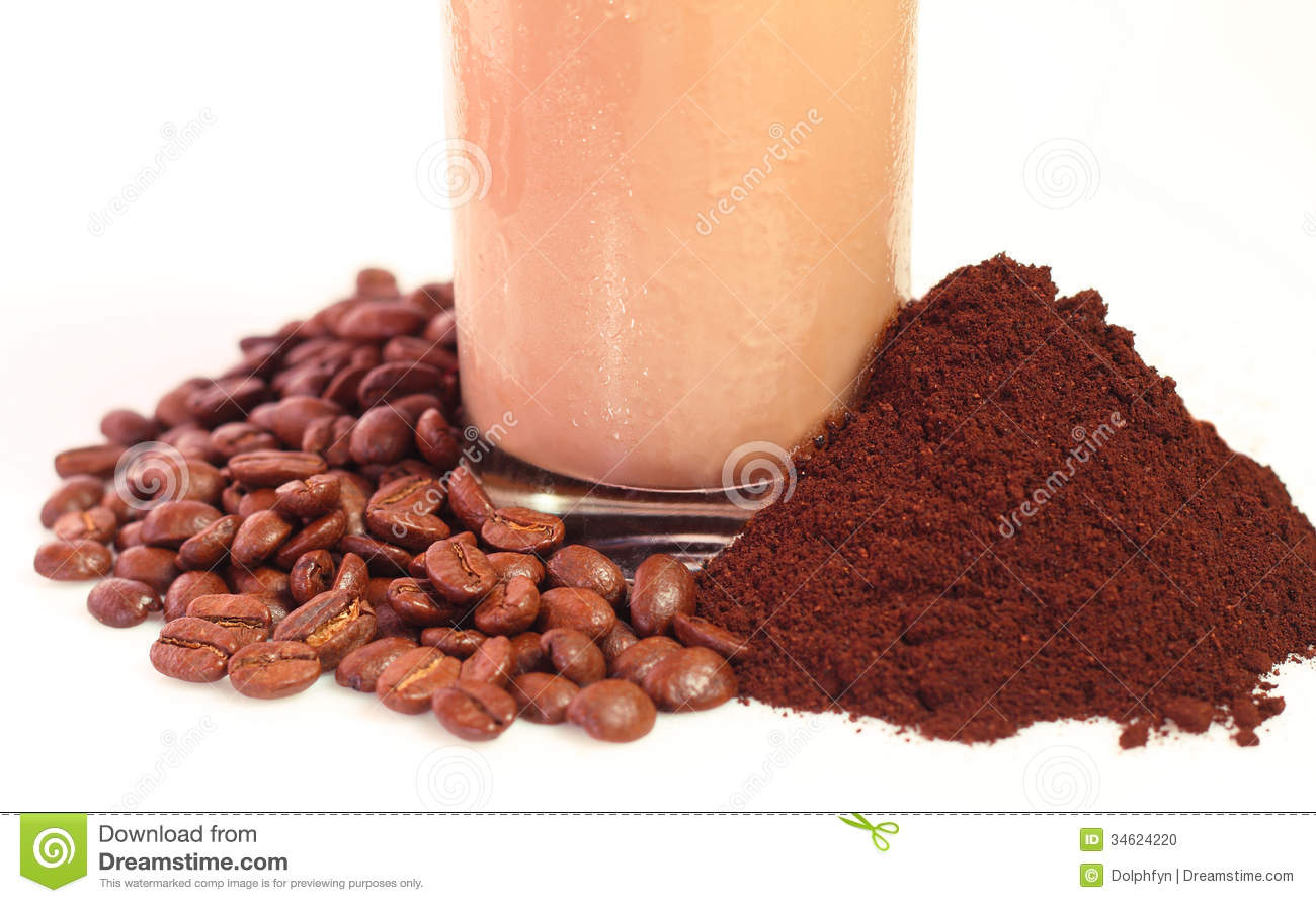 Iced Coffee Stock Photo.