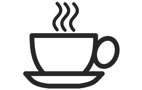 Coloring page cup of coffee.