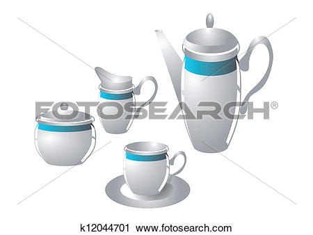 Clipart of coffee service k12044701.