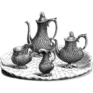Tea and Coffee Service Clipart.