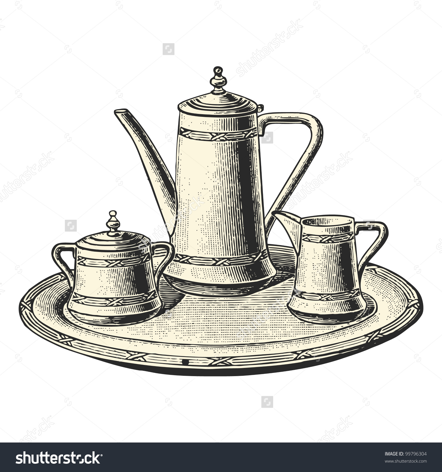 Coffee service clipart #4