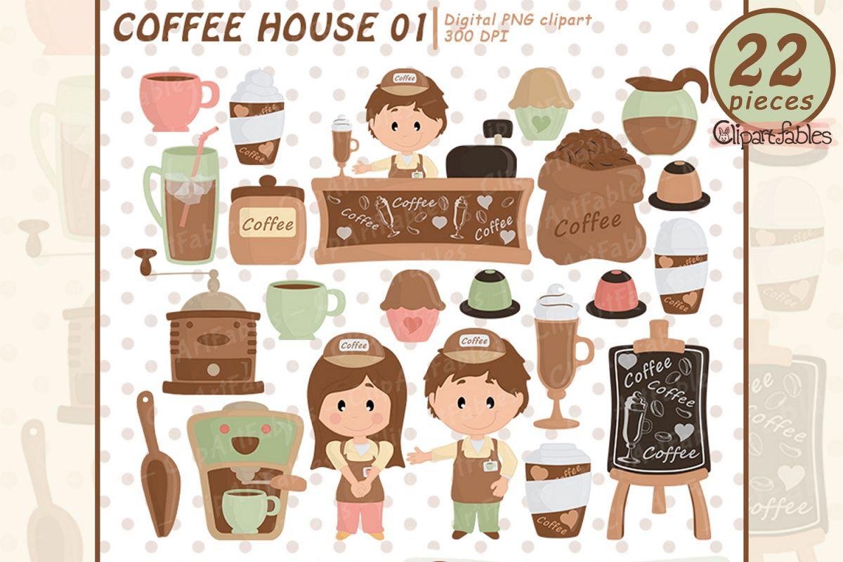 Coffee clipart, Coffee shop clip art, espresso, latte party.