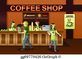Coffee Shop Clip Art.