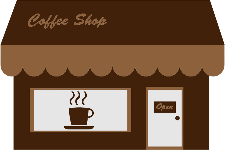 Coffee shop clipart free.