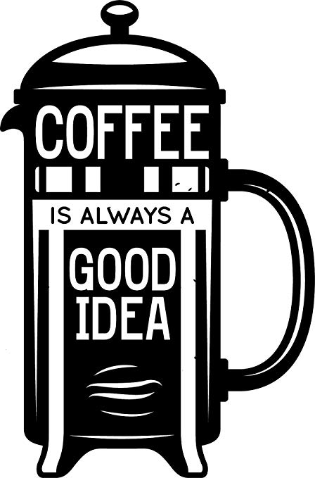Amazon.com: Cute Black and White Coffee Shop Cafe Cartoon.