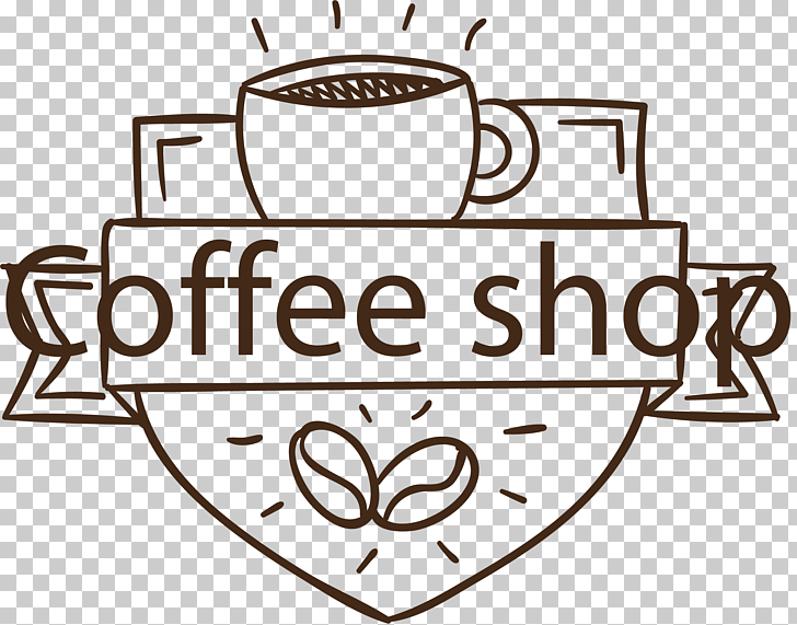 Coffee shop label PNG clipart.