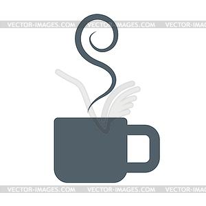 Coffee Cup with Smoke.