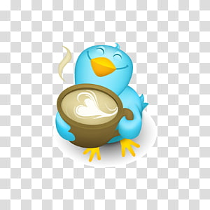 Social media Blog Web feed Icon, Coffee with bird transparent.