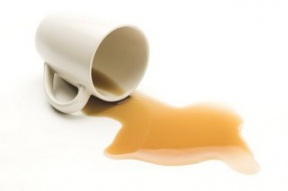 Coffee Spill Clipart.