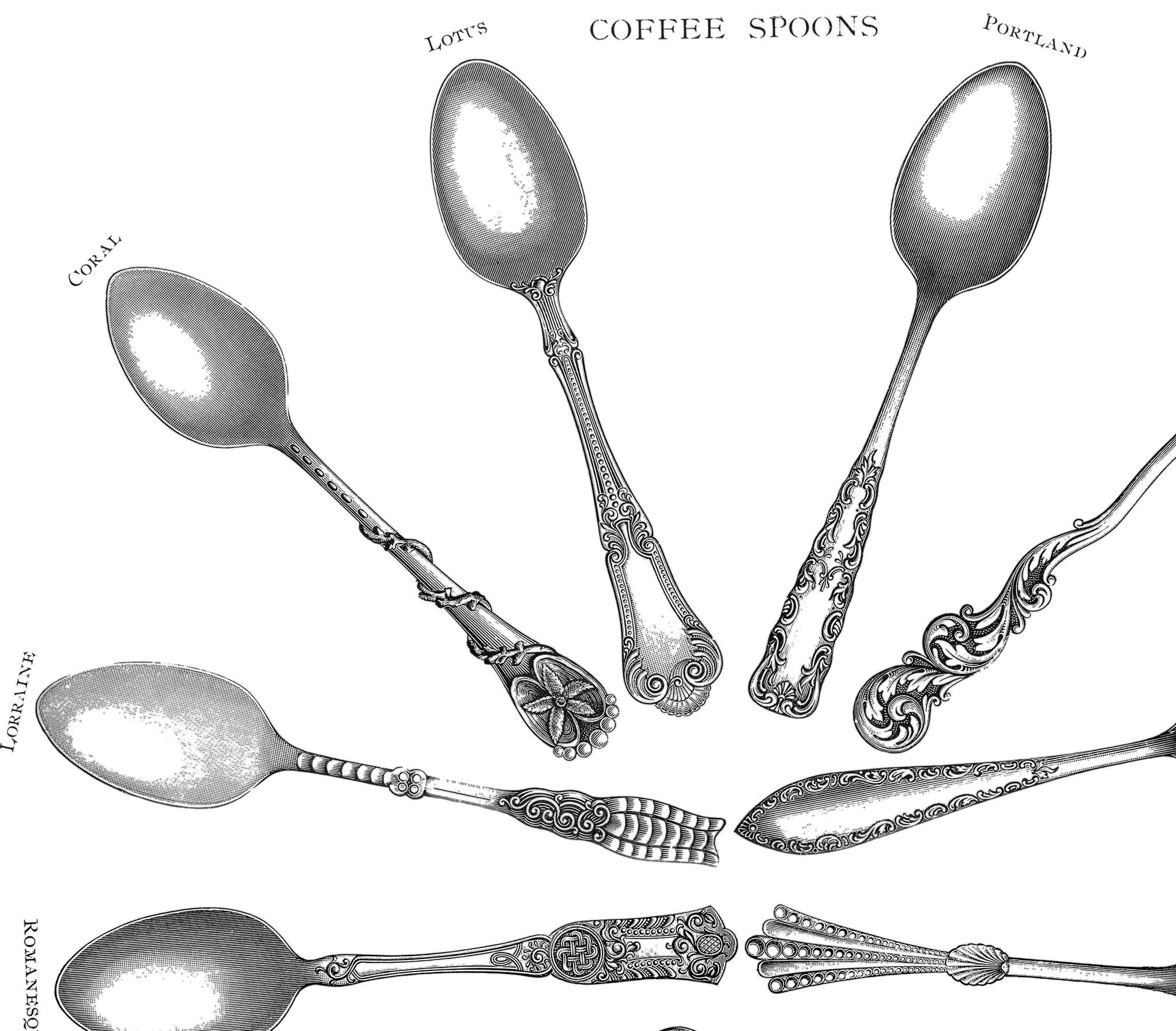 Coffee Spoons Printables.