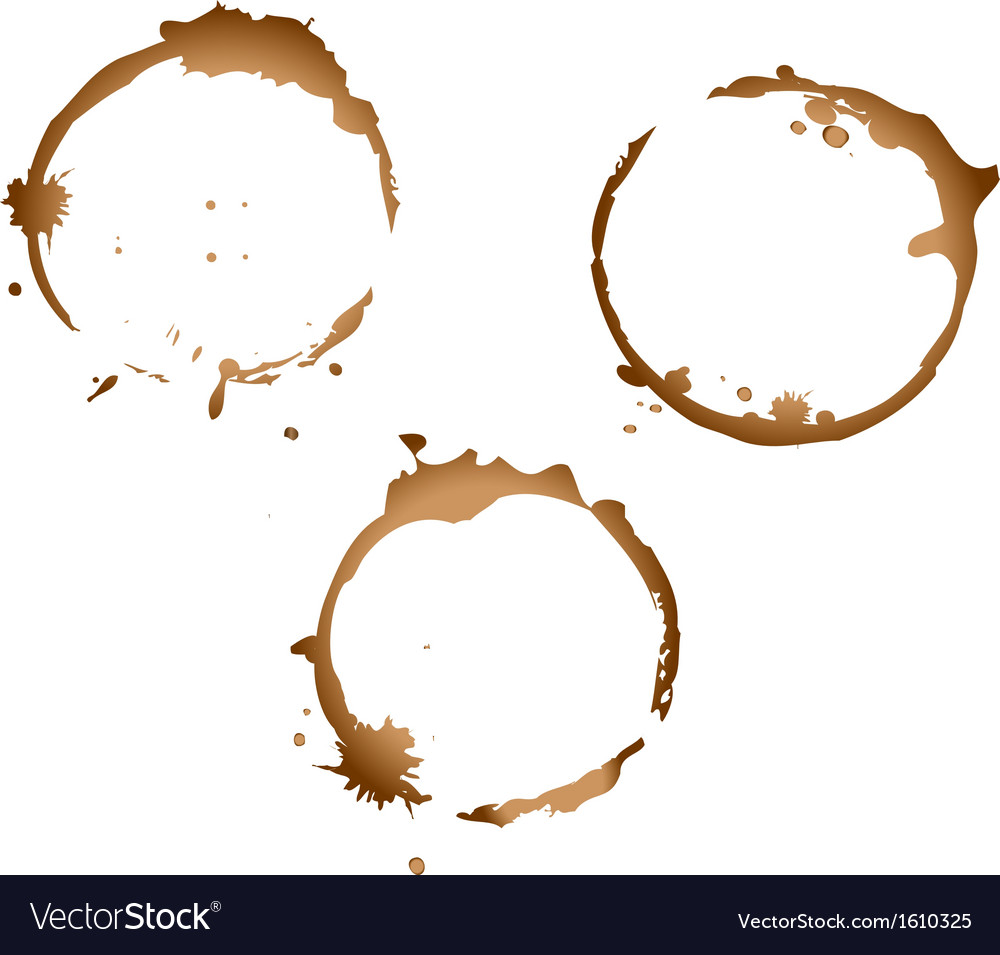 Coffee stains.