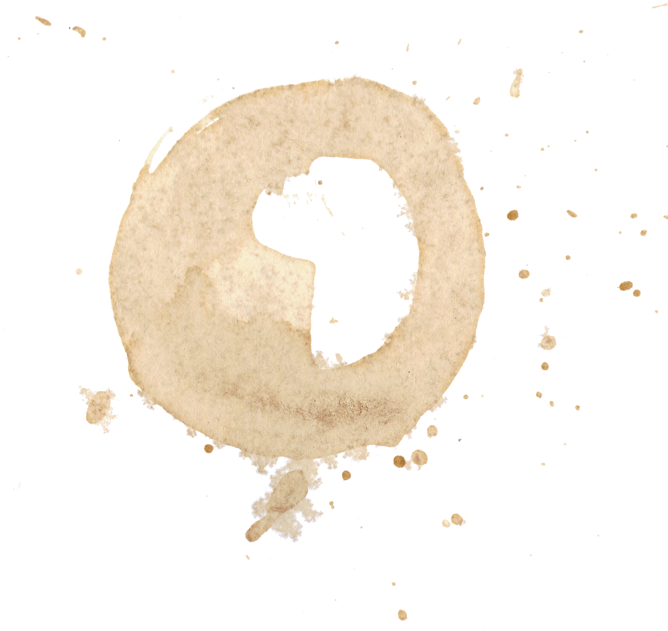 Use These Coffee Stain Vector Clipart #33694.