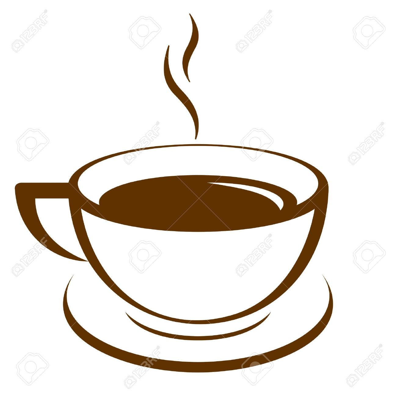 coffee steam outline clipart - Clipground