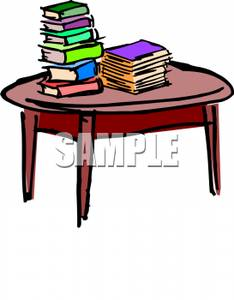 Book Under The Table Clipart.