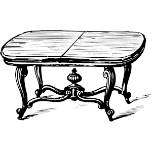 Coffee Table Clipart Black And White.