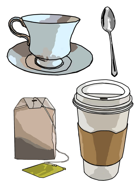 Coffee & Tea Clip Art Free Stock Photo.