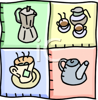 Royalty Free Clipart Image: Hot Beverages.