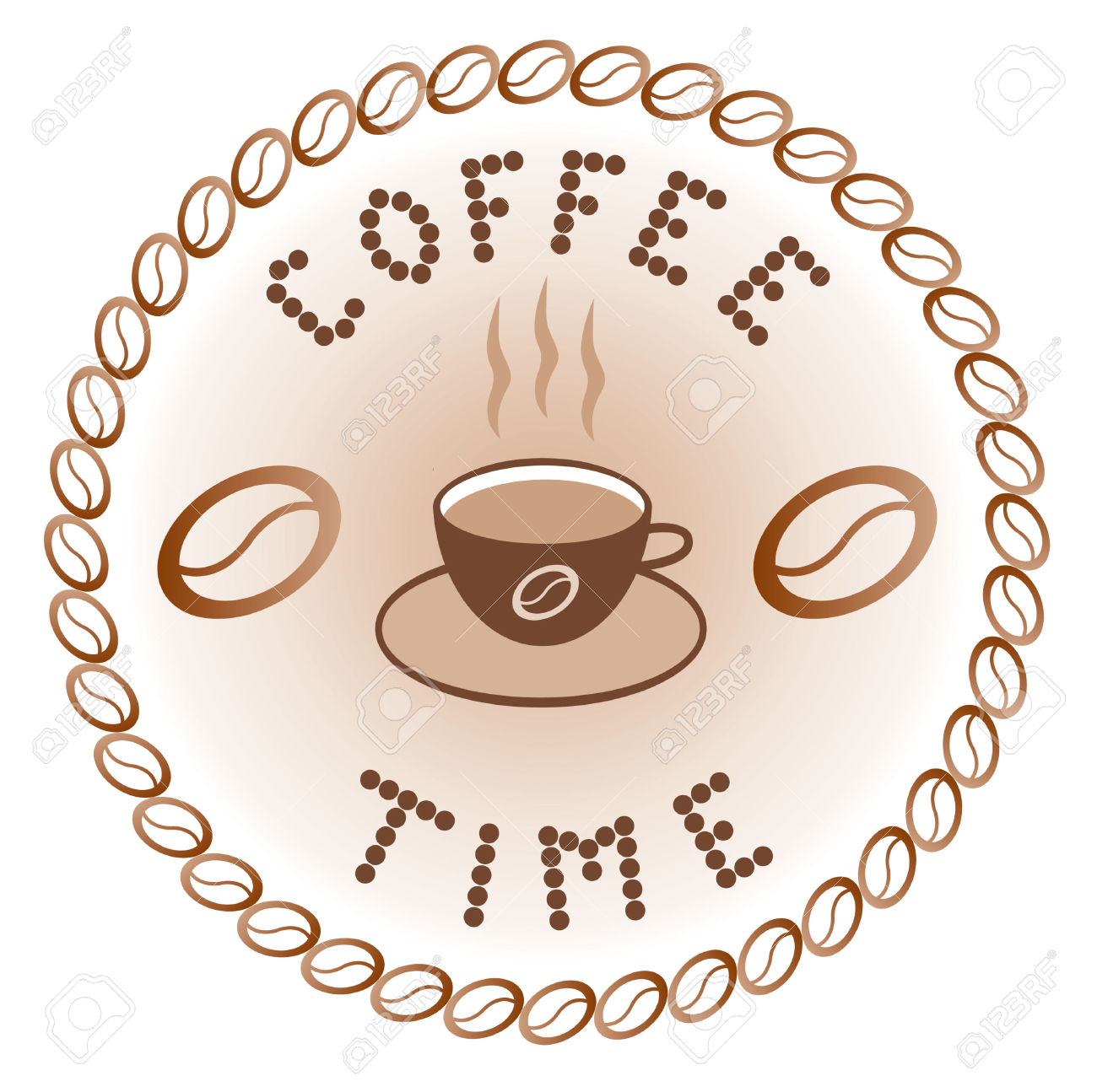 Sign Of Coffee Time Royalty Free Cliparts, Vectors, And Stock.