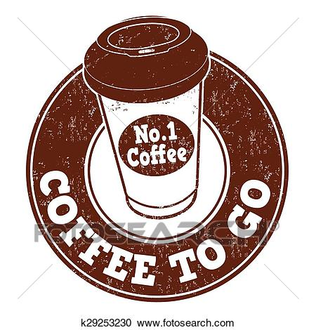 Coffee to go stamp Clipart.