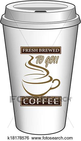 Coffee To Go Cup Design Fresh Brewe Clip Art.