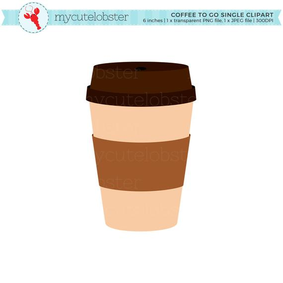 Coffee To Go Single Clipart.