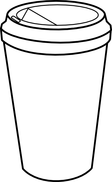Coffee Cup Outline Clip Art.
