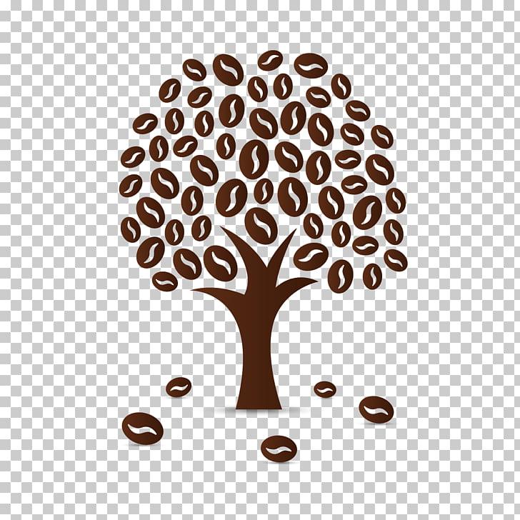 Coffee bean Cafe Coffea, Coffee Tree, tree illustration PNG.