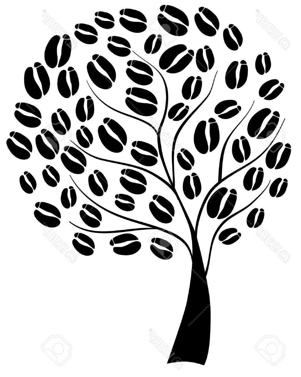 Unique Coffee Bean Tree Vector Drawing » Free Vector Art.