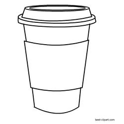 Black and white coffee mug clip art free.
