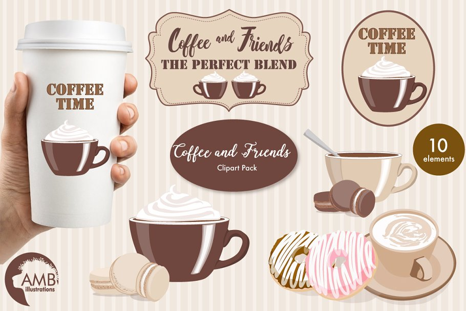 Coffee and Friends clipart AMB.