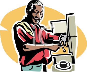 Old Negro Man Working in a Coffee House.