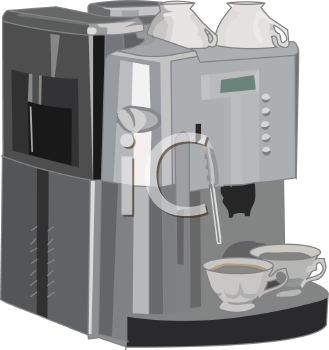 Royalty Free Clip Art Image: Restaurant Style Coffee Maker.