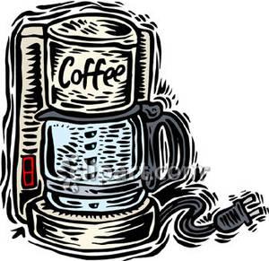 Unplugged Coffee Maker.