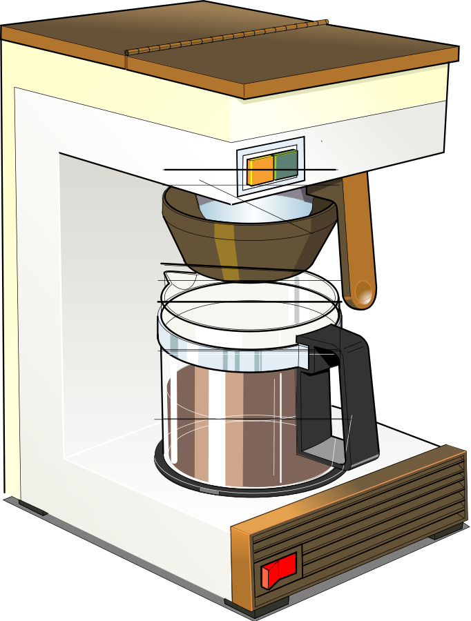 Coffee machine 01 Clipart, vector clip art online, royalty free.