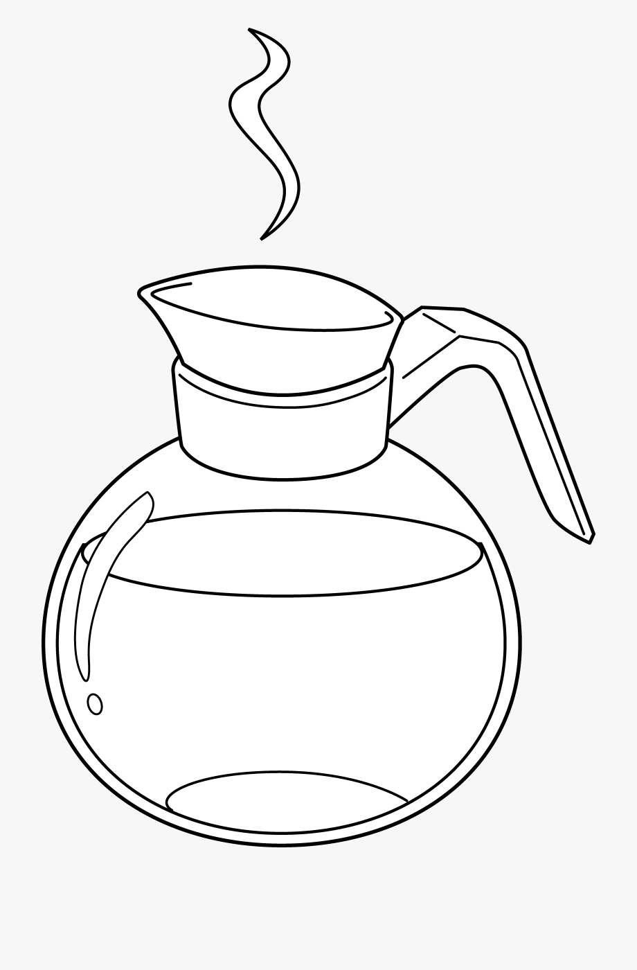 Coffe Drawing Clip Art Line.