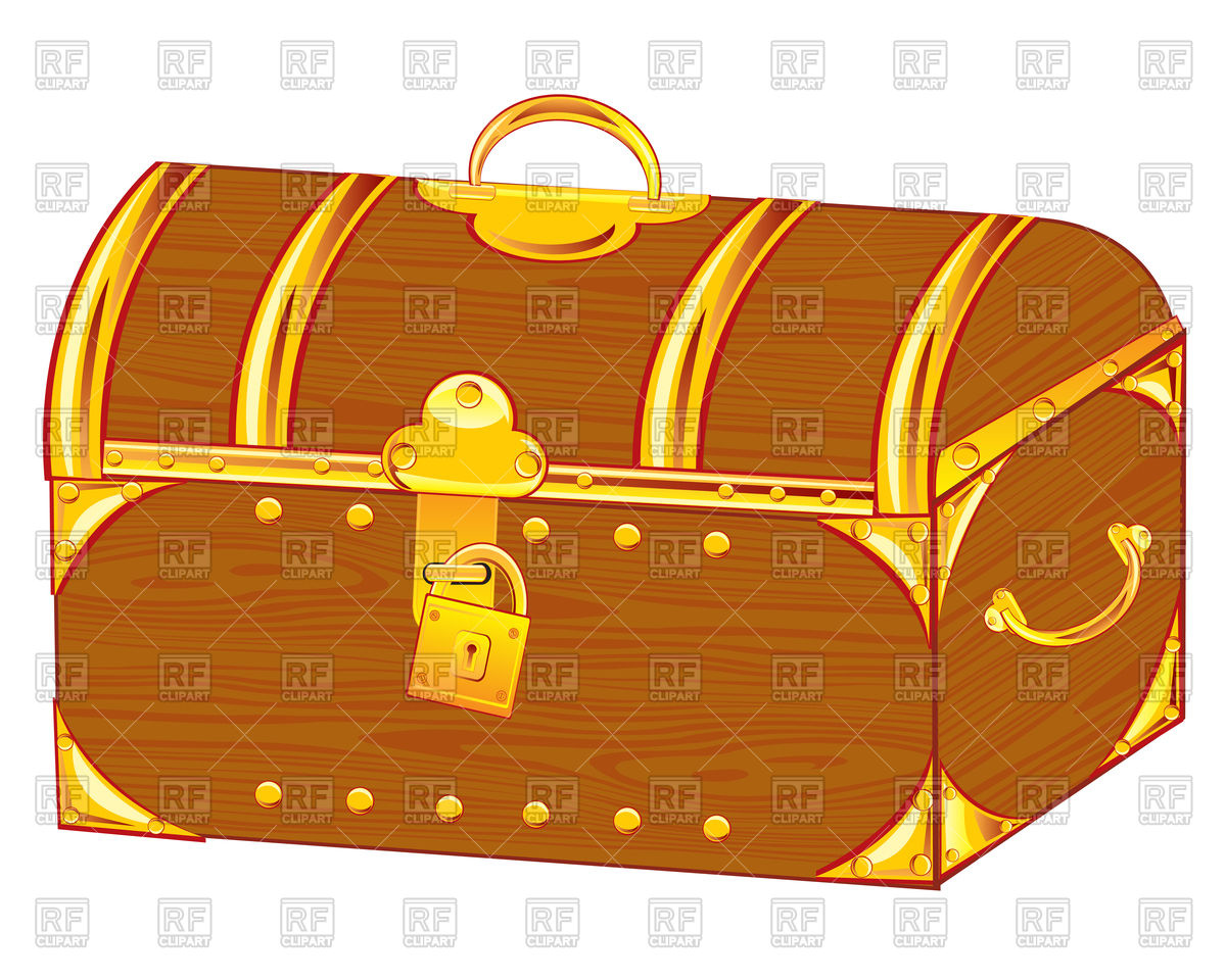 Golden coffer Vector Image #91724.