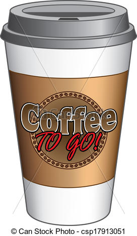 Clipart Vector of Coffee To Go Cup.