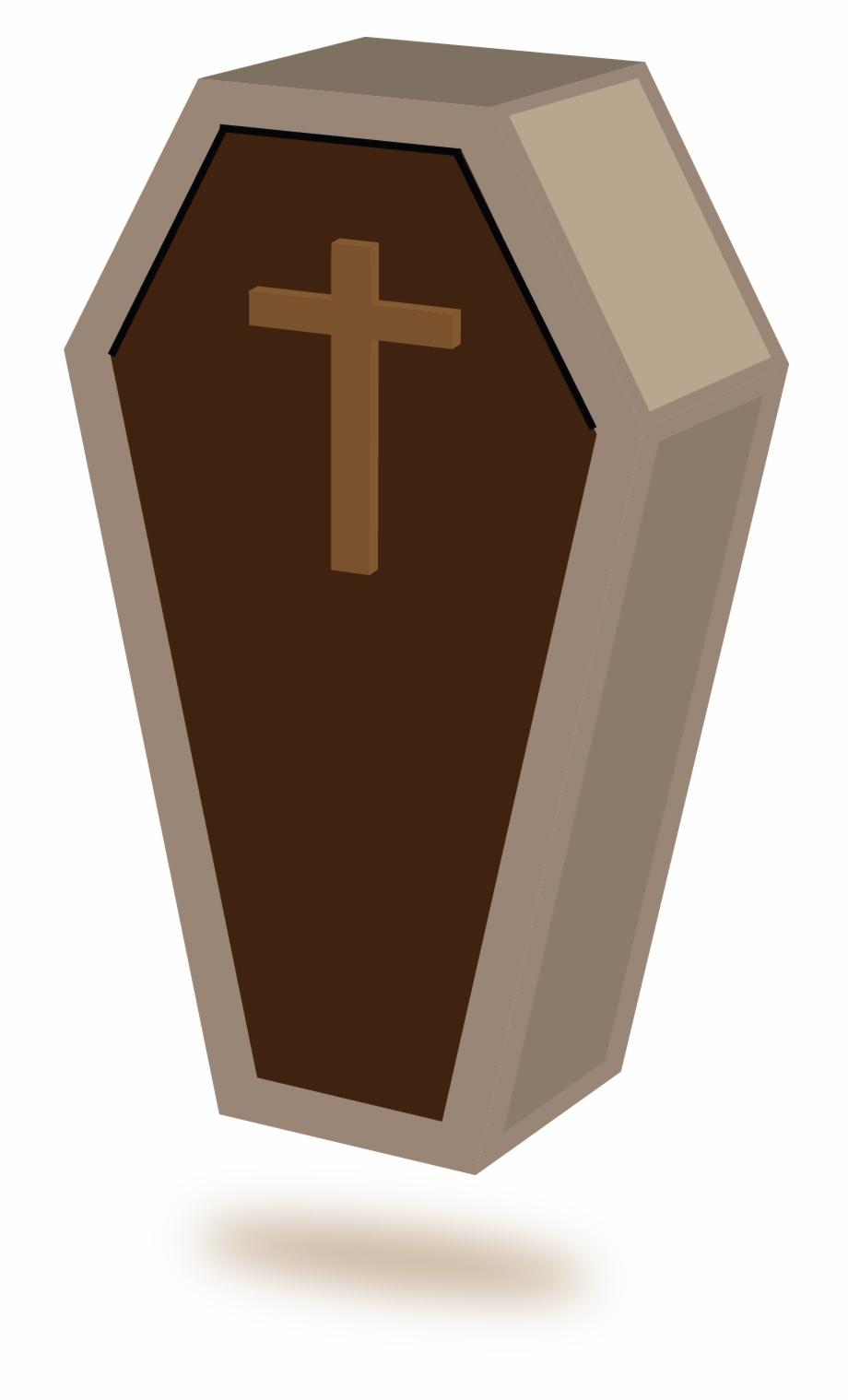 Coffin Clipart Brown.