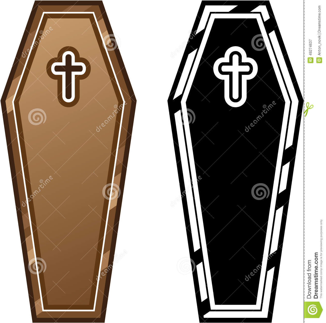 Coffins vector stock vector. Illustration of isolated.