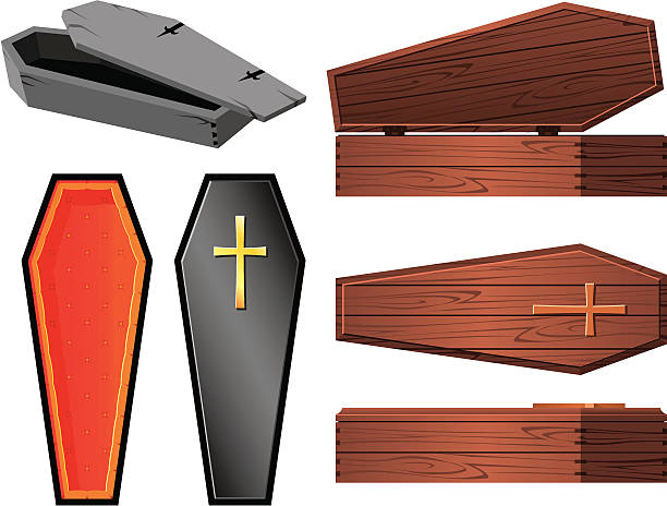 Best Coffin Illustrations, Royalty.