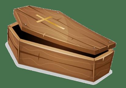 Coffin Clipart transparent PNG.
