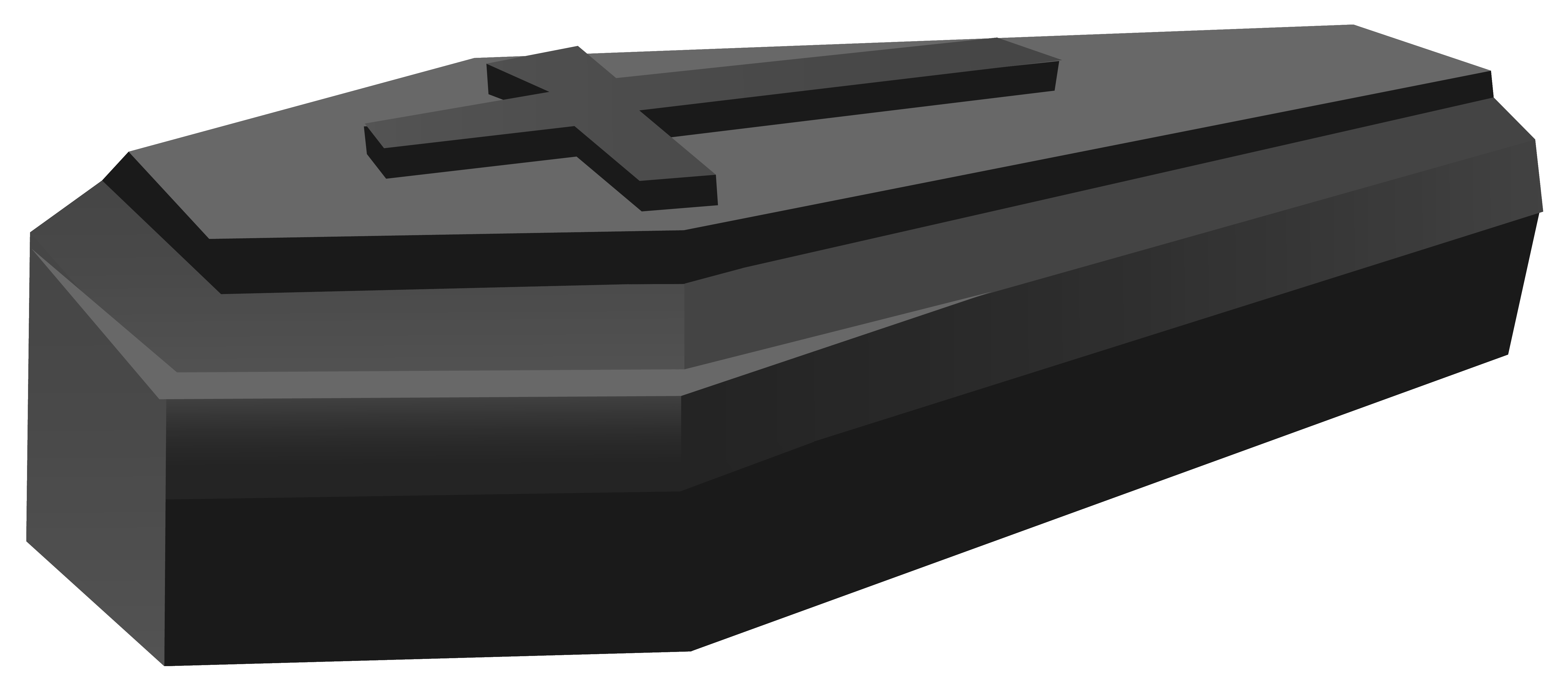 Black Coffin PNG Clipart Image.