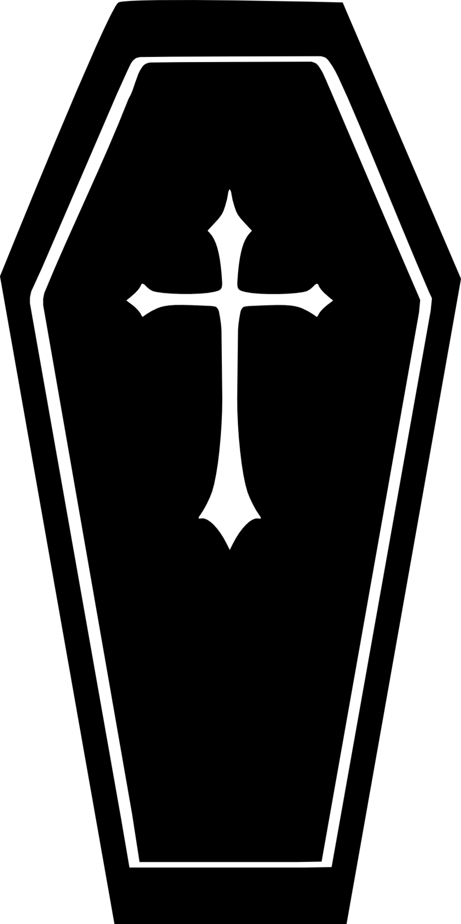 Coffin clipart black and white, Coffin black and white.