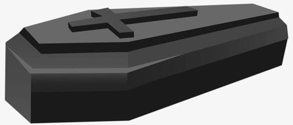 Creative Halloween Black Coffin PNG, Clipart, Black, Black.
