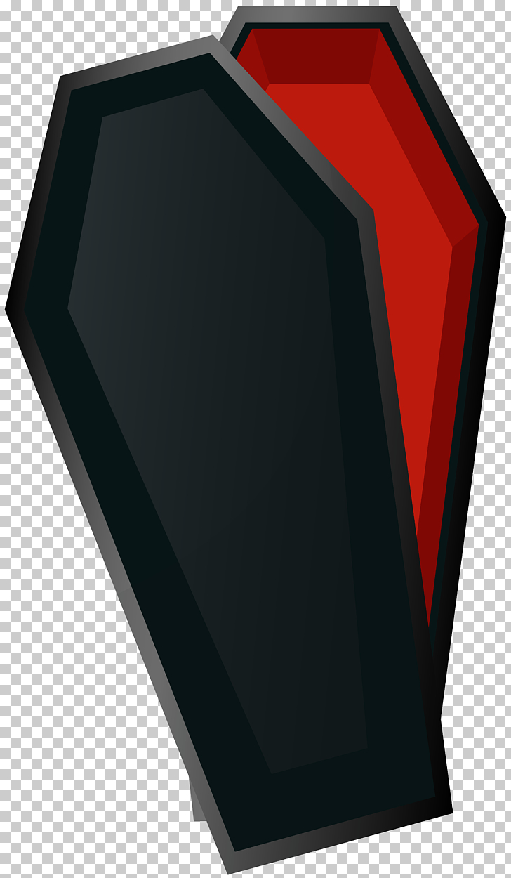 Coffin , Halloween Coffin , black and red coffin PNG clipart.