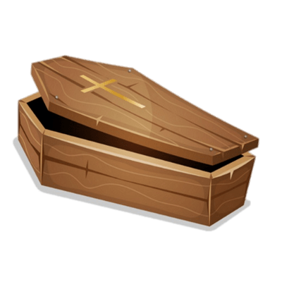 Coffins transparent PNG images.