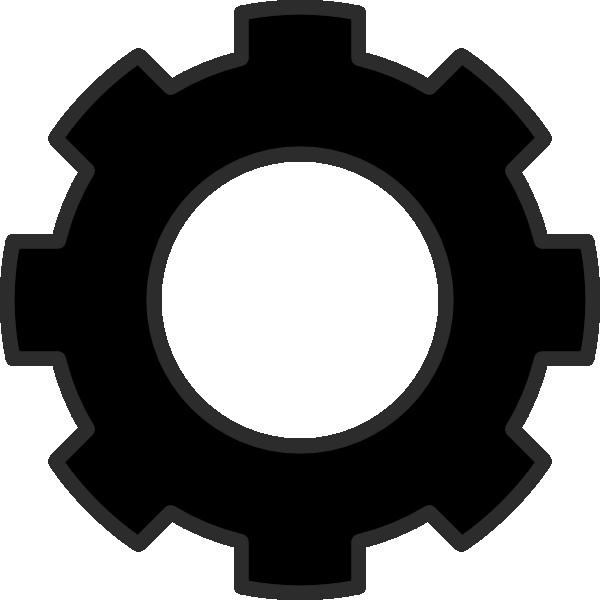 Black Cog Clip Art at Clker.com.