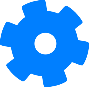Blue Cog Clip Art at Clker.com.