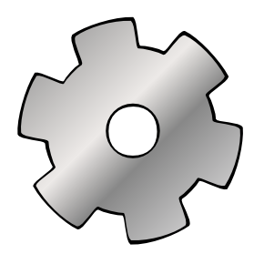 Free Clipart of Cog 01.